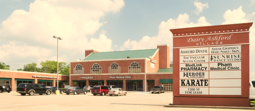 Source: LoopNet, Dairy Ashford Village, one of many shopping centers in Alief