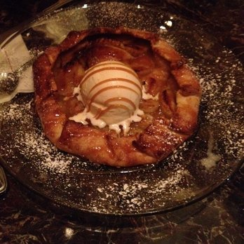 Source: Yelp, Warm Rustic Apple Pie topped with ice cream